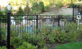 Type of swimming pool fencing and placement - Pool fence landscaping ideas ...