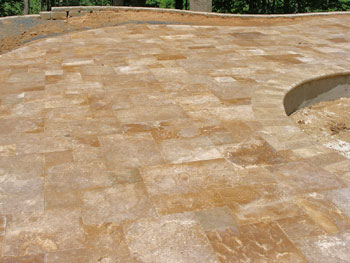 pavers with polymeric sand