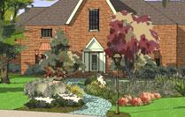 front yard design 3D