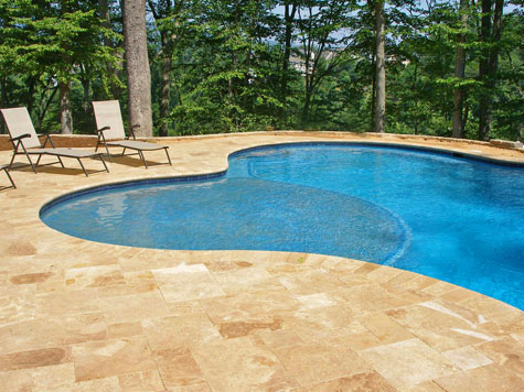 Discover travertine pool paver costs for Pool design pattern