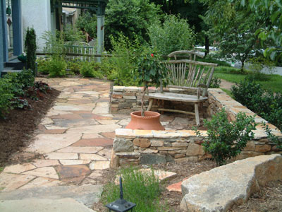 stone patio design