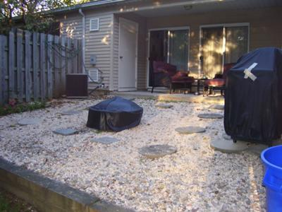 Leveling a backyard area for a hot tub