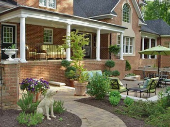 Backyard Patio Design Ideas garden design with easy build woodworking garden patio ideas pictures with landscaping the front yard Slideshow Image
