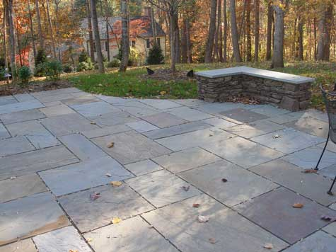 Square Flagstone Patio