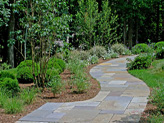 Here are some bluestone walkways