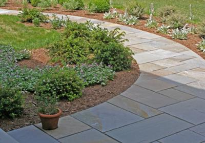 bluestone walkway dry laid installation