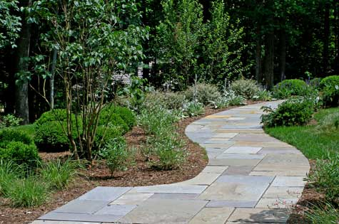Compare bluestone walkway costs with pavers and concrete for Bluestone pricing