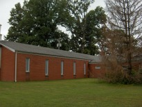 Street view of sanctuary and part of fellowship hall
