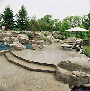 concrete design scofieldjpg - Concrete Patio Design Ideas