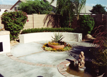 Concrete Backyard Landscaping Design concrete patio design | pictures and ideas