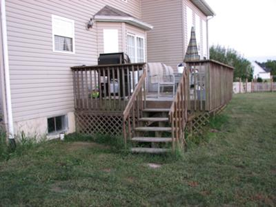 Deck design with 6 existing steps