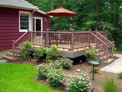 Beautiful This Deck And Lovely Landscaping Was Designed By Icon Landscape Development  In New Jersey. Tim, The Owner, And I Worked Together Many Years Ago.