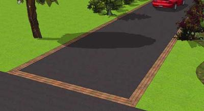 Paver Driveway Edging in Sketchup