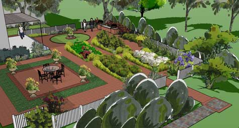 Formal Garden Design formal garden design 5 elements needed to create a formal garden homes Clients Wanted An English Formal Garden Brick Walks Divided By Planting Beds And A Nice Sitting Area Are All Part Of The Design