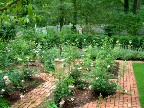 Formal garden with lots of paths