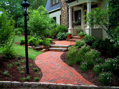Front Brick Walkways Ideas