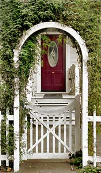 this is a front yard arbor.