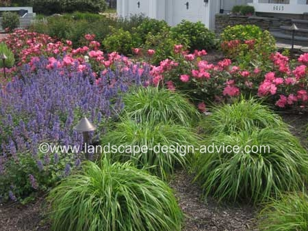 Front Yard Design With Lots Of Colorful Perennials