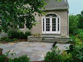 Curved patio design.