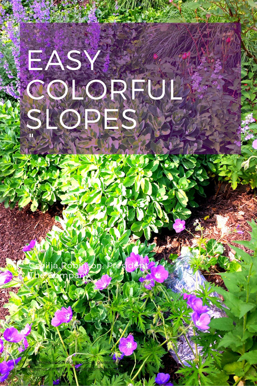 Landscaping steep slopes.