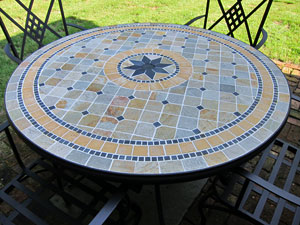 Nice This Is A Beautiful Mosaic Table And Chairs...and It The Outdoor Dining  Furniture I Finally Decided Upon. I Like It Because It Is Different!