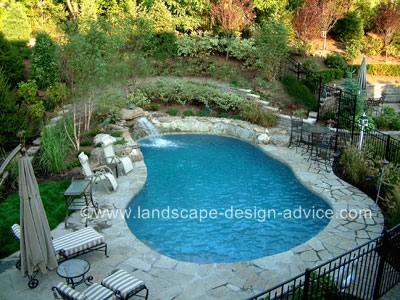 Landscape designs for pools creative ideas pictures for Natural pool design