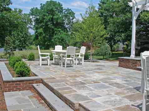 Superior Two Level Bluestone Patio Costs How To Do It Less Expensively