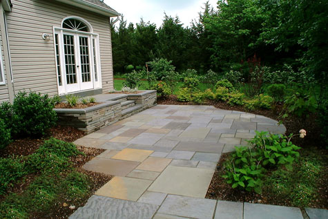 stone walls for patio ideas
