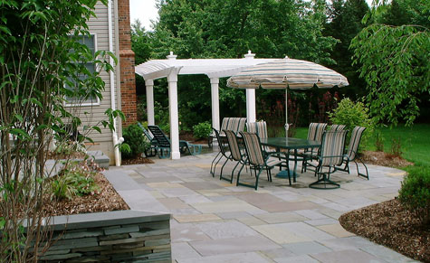 patio idea using natural stone