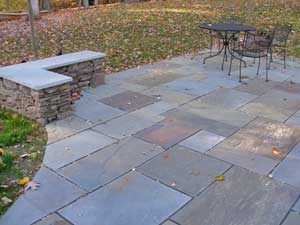 Patio Wall Design courtyard brick patio design with fire pit and seat wall 3 Patio Seat Wall Design And Pictures