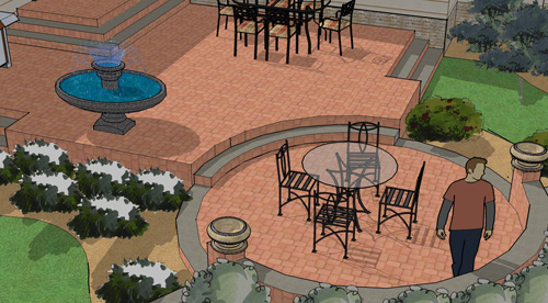 Patio shapes and layouts for Patio layouts and designs