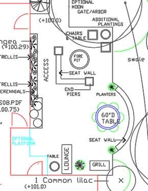 Patio design in autocad.