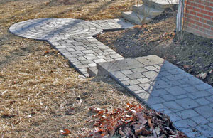 Paver circles can add interest.