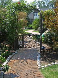 Walkways can have arbors and gates in the design.