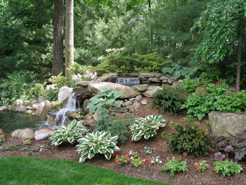 simple front yard landscaping ideas pictures big pots - Water Features Formal and Informal