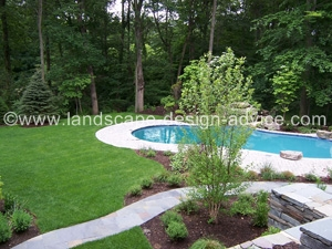 pool landscape designs Landscaping Around A Pool