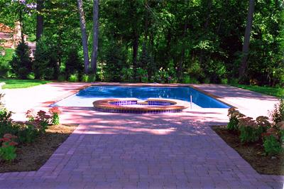Simple Pool Paving Design