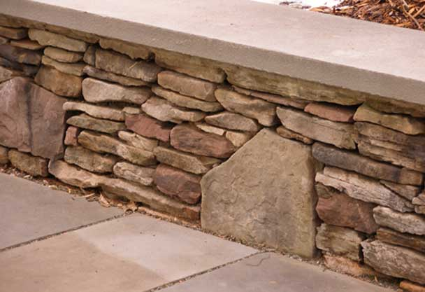 Garden Block Wall Ideas building a concrete block retaining wall building masonry walls patios walkways Retaining Wall Ideas Choosing Wall Materials