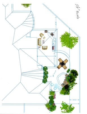 drawing of spa and patio