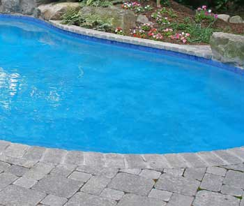 Landscape designs for pools creative ideas pictures for Painting aluminum swimming pool coping