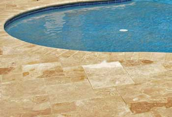 travertine stone coping