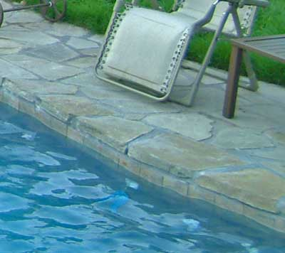 Swimming pool coping types for Inground pool coping paint