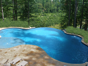 swimming pool designs with travertine