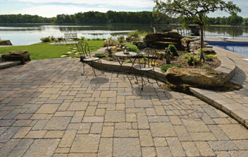 sometimes a circle design can be added in an interesting location many pavers come with matching circle kits with circle sizes that can be adjusted - Paver Patio Design Ideas