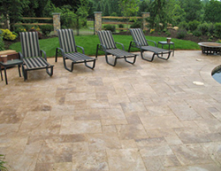travertine pavers at the pool.