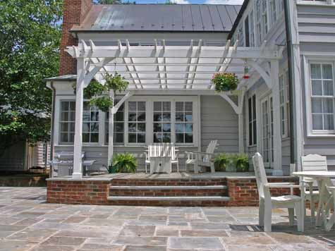 Two level bluestone patio costs for Bluestone porch