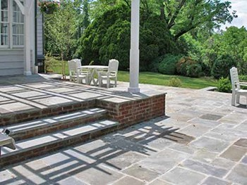Raised Patio Design With Steps