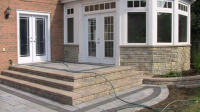 Stone Patio With Water Issues