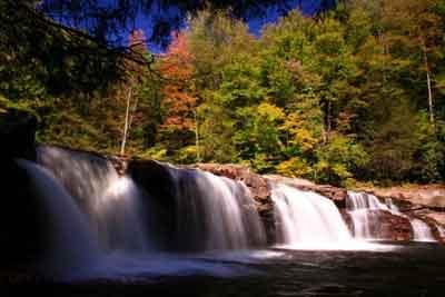 Large rocks make a great waterfall.