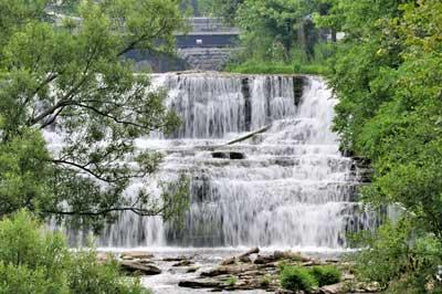 Most people love beautiful watefall scenery.